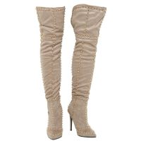 Over The Knee Stiletto High Heels Studded Boots